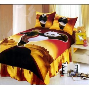 Детское постельное белье - Кунг фу панда на фоне пустыни сатин