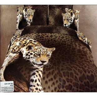 Постельное белье - Крадущийся гепард 3D сатин гепардовый принт