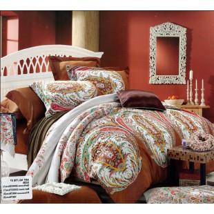 Постельное белье - Горчичного цвета с колоритными узорами делюкс