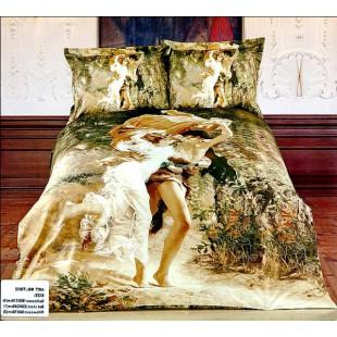 Постельное белье - Картина Юноша и девушка 3D сатин