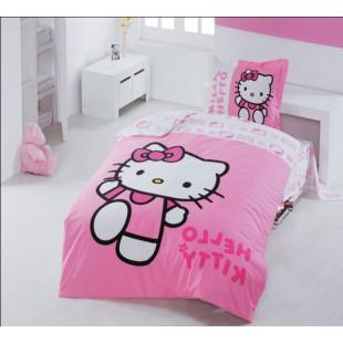 Детское постельное белье - Кошечка Kitty хлопок розового цвета