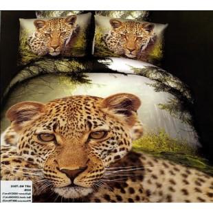Постельное белье - Леопард на фоне природы 3D сатин