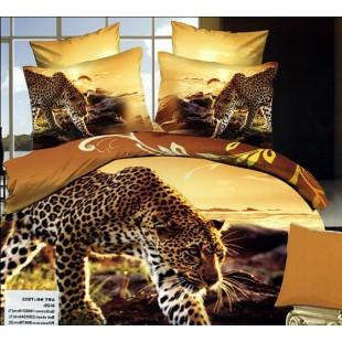 Постельное белье - Гепард на закате солнца 3D сатин