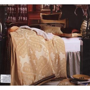 Набор постельного белья - Светло-коричневого цвета с огурцами (8 предметов)