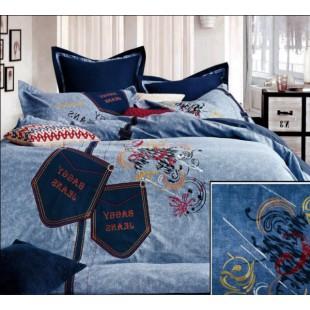 Постельное белье с джинсовыми аппликациями Fashion Home Textile