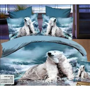 Постельное белье с белым медведем на льдине