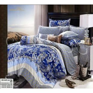 Пейсли восточное постельное белье в синей с голубым гамме