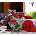 Постельное белье с 3D эффектом - Бархатные красные розы