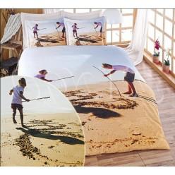 Фотопечатное постельное белье из бамбука с детьми на пляже