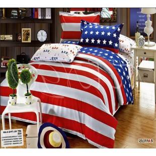 Постельное белье с американским флагом из твила