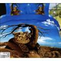 КПБ 3D сатин - гепард на фоне Саванны