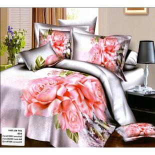 Нежное романтичное постельное с розовыми розами