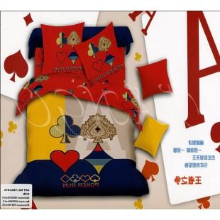 Постельное белье - Покер Ран с мастями игральных карт