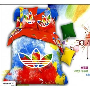 Постельное белье - Adidas красный с синим и желтым