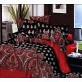 Восточное постельное белье в черно-красной гамме