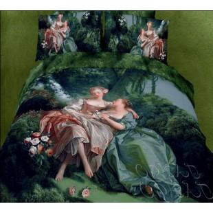 Постельное белье - Картина девушки в лесу
