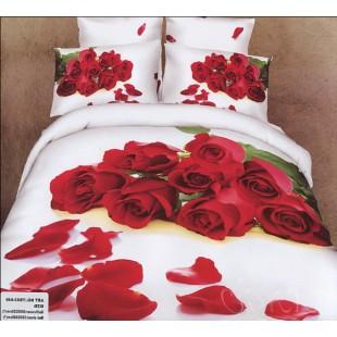 Постельное белье для годовщины свадьбы с букетом красных роз