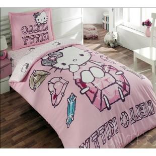 Детское постельное белье – Хэлло Кити розового цвета