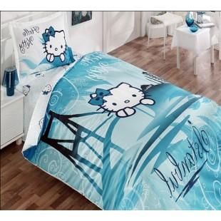 Детское постельное белье – Хэлло Кити в Стамбуле в голубом цвете