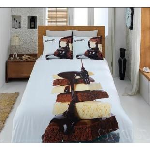 Постельное белье с кусочками белого и темного шоколада бамбук