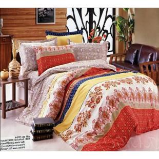 Постельное белье в персидском стиле твил оранжевого цвета