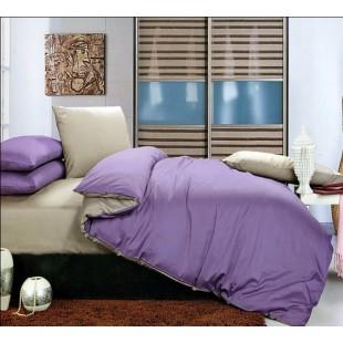 Постельное белье серо-фиолетового цвета сатин