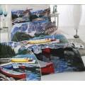 Постельное белье с лодками-байдарками 3D бамбук VS