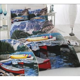Постельное белье с 3D лодками-байдарками бамбук