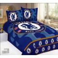 Постельное белье Челси в синей гамме из сатина