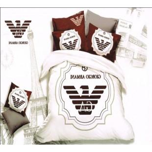Постельное белье с логотипом Giorgio Armani из сатина