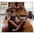 Постельное белье бамбук с сатином в коричневой гамме Релаксация
