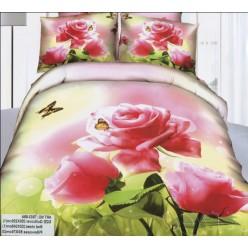 Реалистичное сатиновое постельное белье 3D c изображением роз