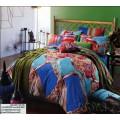 Разноцветное постельное белье из сатина в стиле модерн