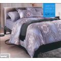 Постельное белье серо-фиолетовой гаммы с абстракцией