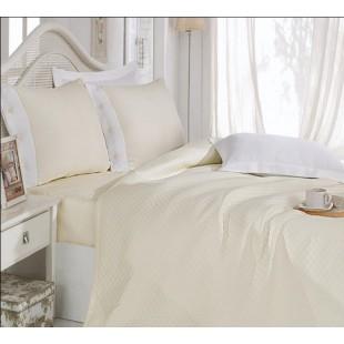 Комплект белья с покрывалом Cotton Box лимонный турецкий