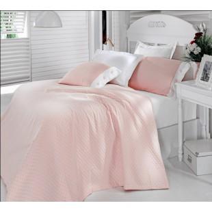 Комплект из постельного с покрывалом розовый Cotton Box