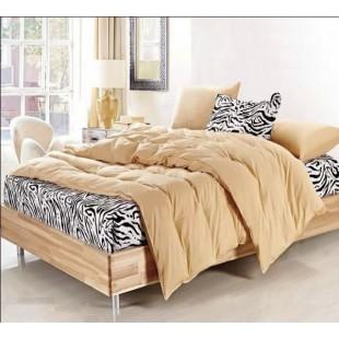 Постельное белье бежевого цвета с рисунком под зебру твил