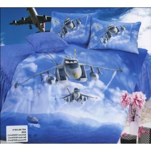 Постельное белье для детей - Самолеты на синем фоне