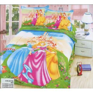 Детское постельное белье - Принцессы Диснея сатин