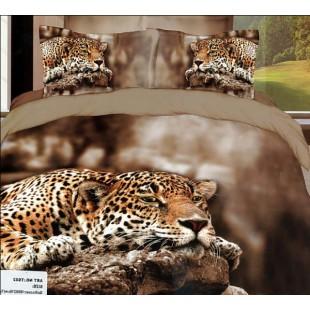 Постельное белье - Гепард на скале сатин