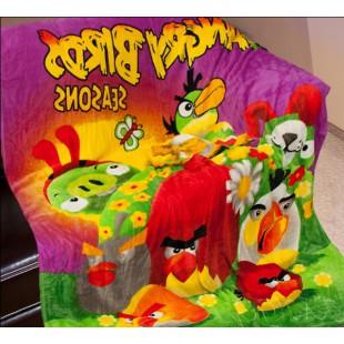 Плед Angry Birds лиловый seasons