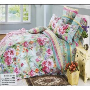 Гобеленовый комплект белья в красочной расцветке с цветочным рисунком