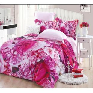 3D постельное белье с распустившимися розами - бамбук