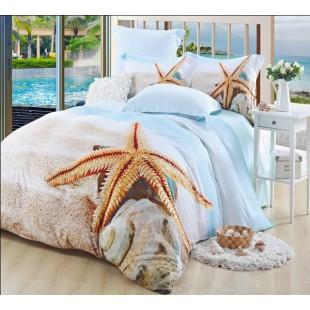 Бамбуковое постельное белье с морскими звездами - 3D