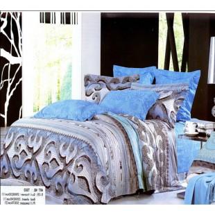 Бирюзово-фиолетовое постельное белье с восточным орнаментом