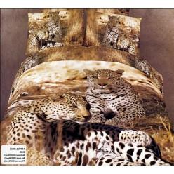Семья гепардов на светло-коричневом фоне