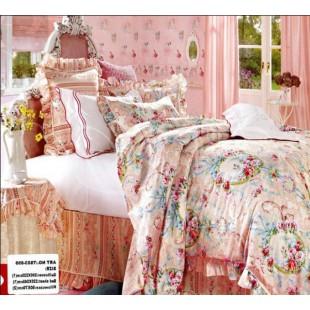 Нежно-розовое постельное с белым оттенком из сатина