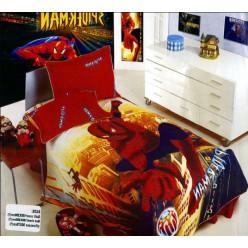 Детский сатин с принтом Spiderman красное