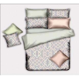 Восточное постельное белье в оливково-золотистых тонах эвкалиптовое