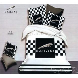 Постельное белье Jaguar черно-белого цвета сатин